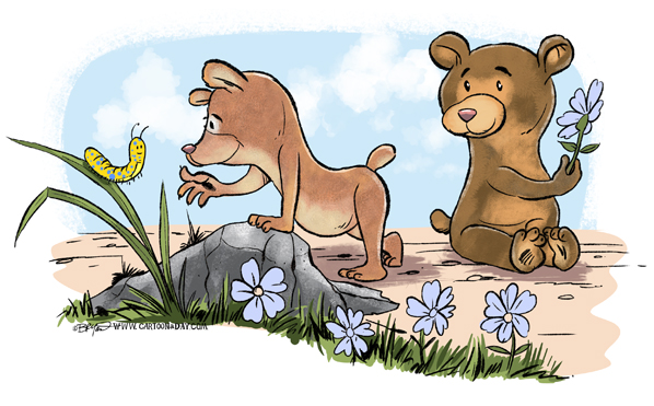 Cute-bears-caterpillar-cartoon-598