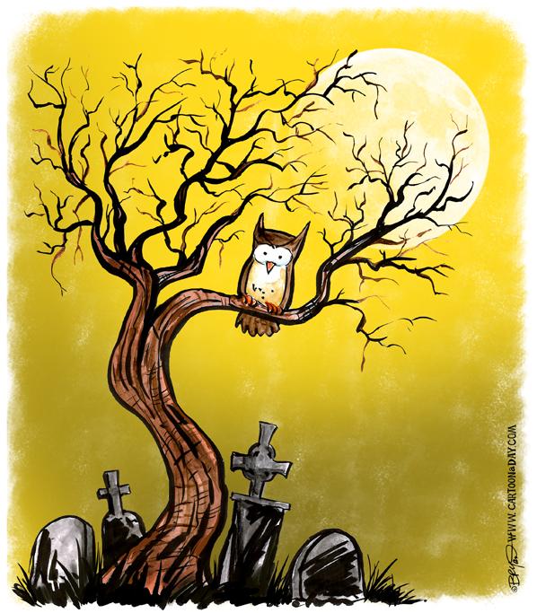 Halloween-twiggy-tree-owl-moon-598