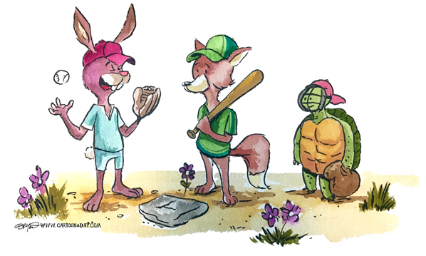 fox-rabbit-turtle-baseball-watercolor-598
