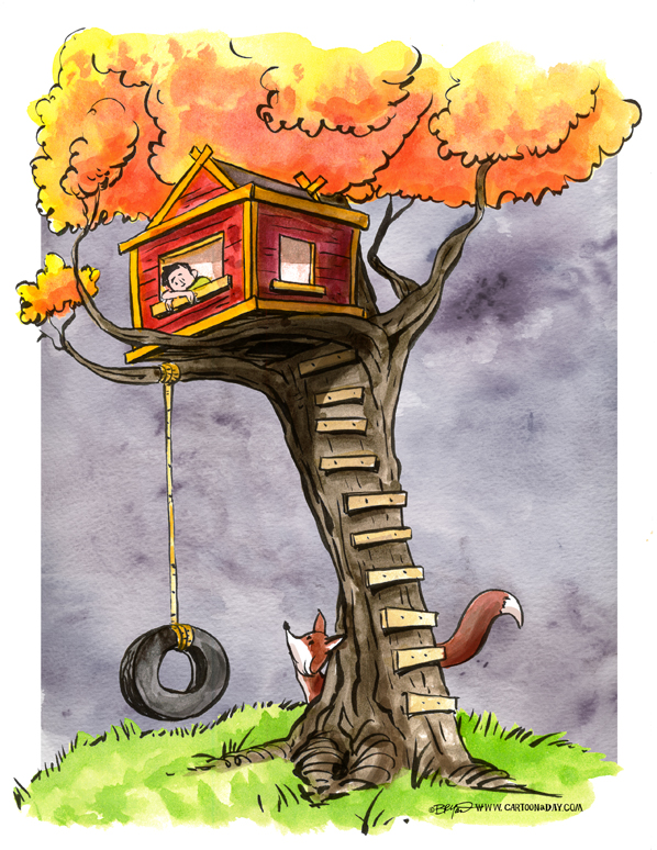Foxy Treehouse Cartoon Cartoon A Day Find & download free graphic resources for cartoon house. cartoon a day