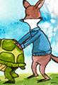 Furry Football Watercolor Cartoon
