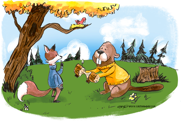 fox-and-beaver-friends-598