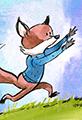 Fox chases balloon