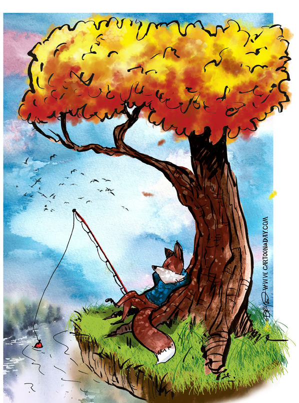 fox-fishing-twiggy-tree-598