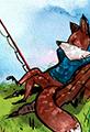 Fox is Fishing