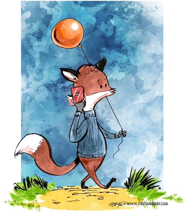 fox-on-cellphone-balloon-598