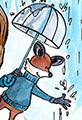 Fox Rainy Day Umbrella