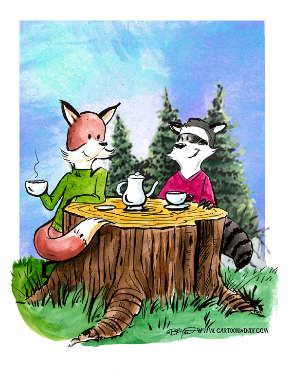 tea-for-two-fox-raccoon-598