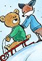 Fox and Bear go Sledding