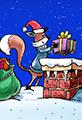 Fox Plays Santa Claus