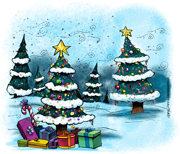 christmas-tree-forest-cartoon-598