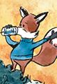 Fox and Bear on Tin Can Phone