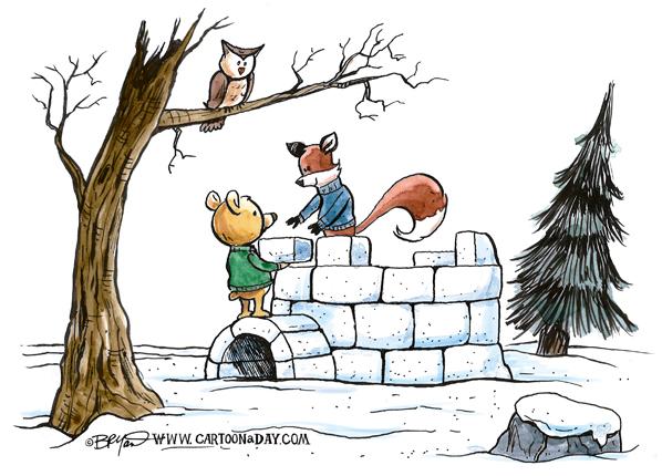 fox-bear-winter-igloo-598