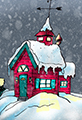 Snowy Home Cartoon