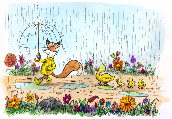 fox-rain-day-ducklings-598