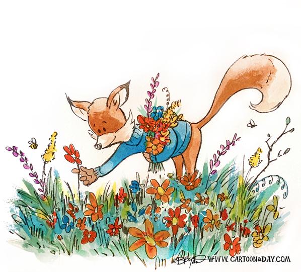 kit-fox-picks-spring-flowers-598
