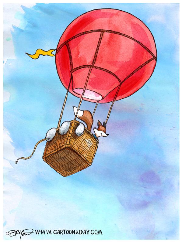 Fox-hot-air-balloon-cartoon-598