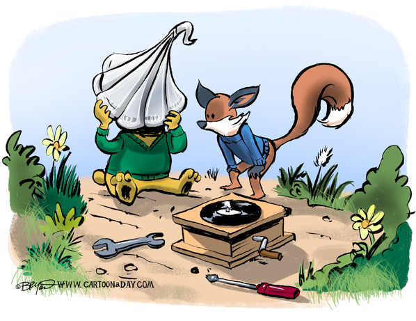 fox-bear-fixing-turntable-598