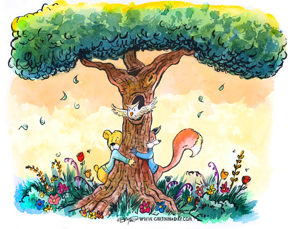 Fox-bear-hug-a-tree-598