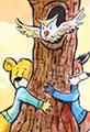 Kit the Fox and Barry Bear Hug a Tree