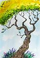 Twiggy Tree Watercolor
