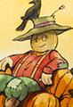 Jack the Pumpkin King Scarecrow Watercolor