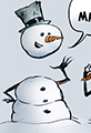Snowman Magic Cartoon