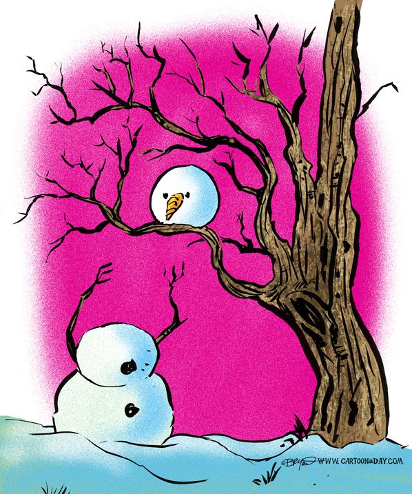 Funny Headless Snowman Cartoon Cartoon Cartoon A Day