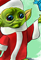Baby Yoda and Christmas Cartoon