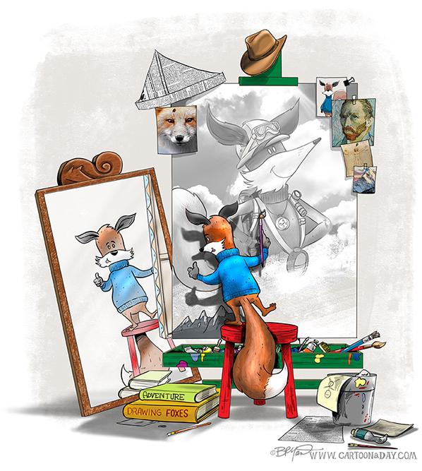 kit-the-fox-triple-selfportrait-598