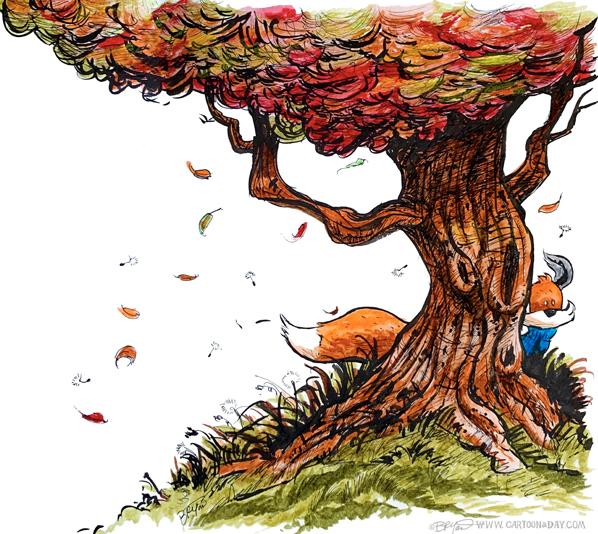 Kit-fox-hiding-windy-tree-598