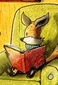 Kit the Fox Reads a Book at Home