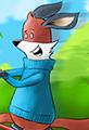 Kit the Fox Rides a Bike