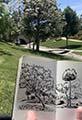 Moleskine Sketchbook in the Park