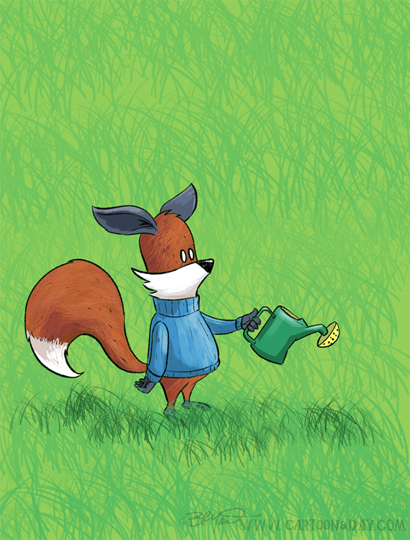 Kit-fox-watering-can-grass-598