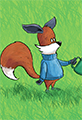 Kit the Fox Waters the Grass