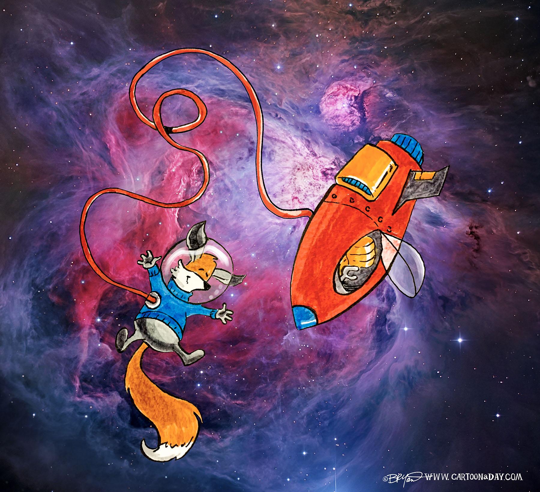 Kit-fox-astronaut-nebula-bright