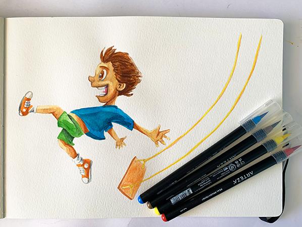 boy-swings-watercolor-598