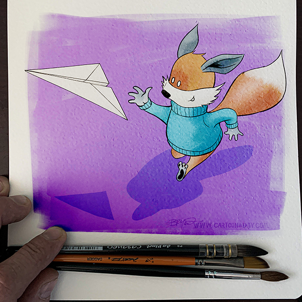 Kit-fox-running-airplane-sketchbook-598