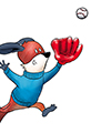 Kit the Fox Catches a Fly Ball
