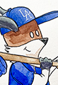 Kit the Fox and the LA Dodgers