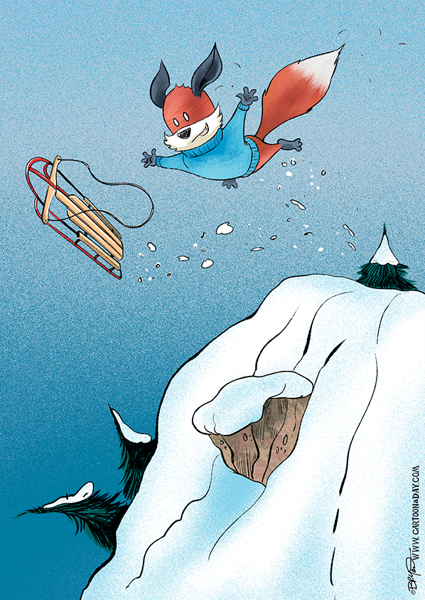 Kit-fox-snow-sledding-jump-598
