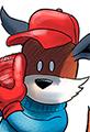 Kit the Fox Pitches Baseball