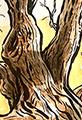 Twiggy Tree Fall Watercolor