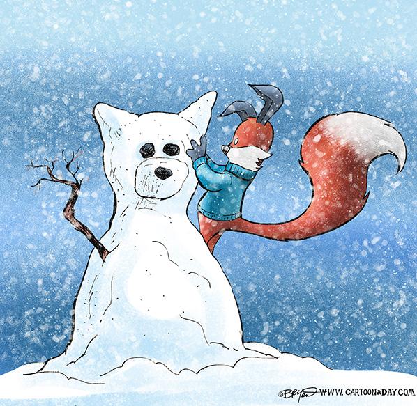 Kit-fox-builds-fox-snowman-598