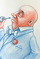 Bald Man Sketchbook