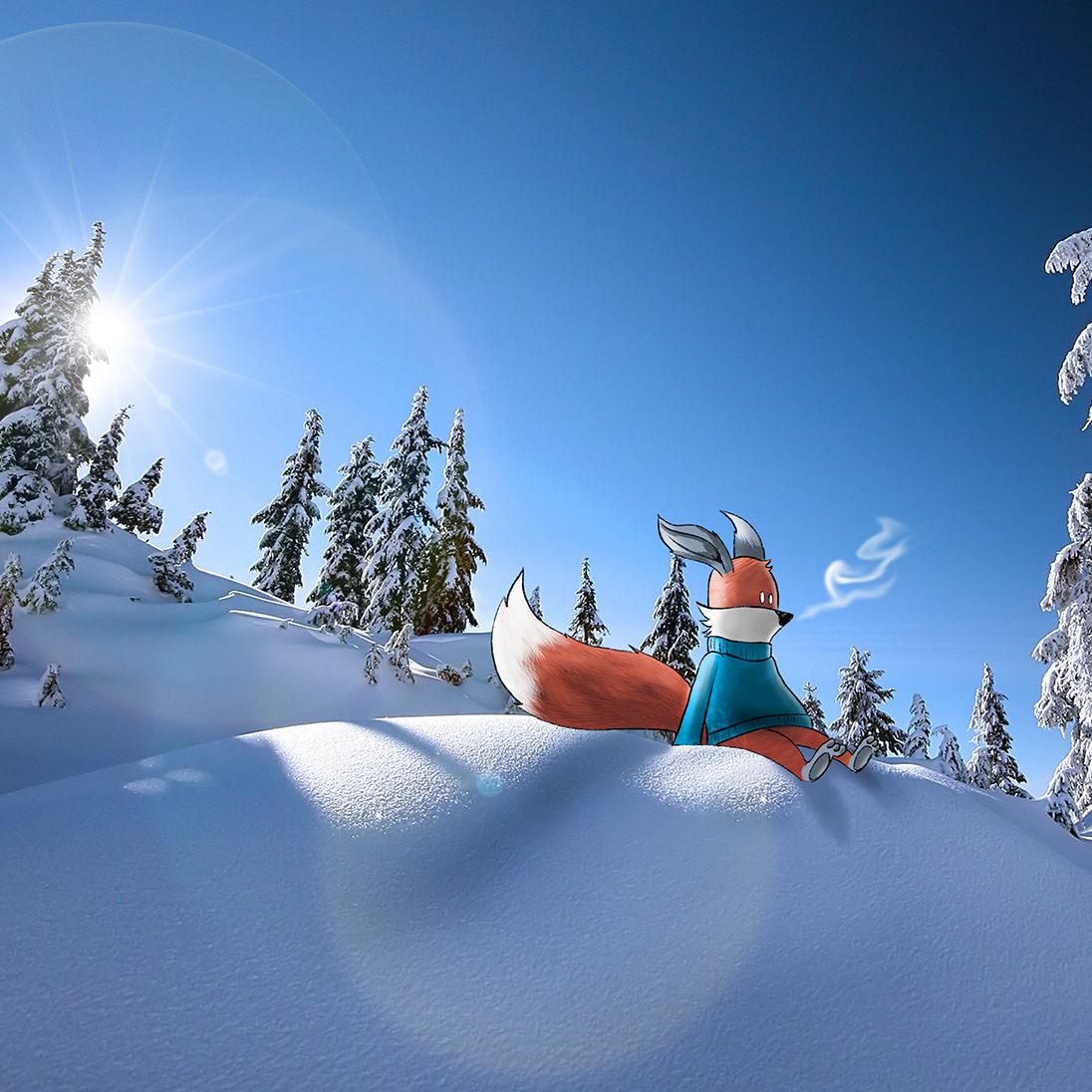 kit-fox-sitting-snow-slope-72-square