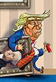 Trump Leaves the White House Cartoon